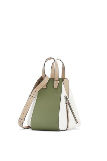 LOEWE Small Hammock bag in classic calfskin Avocado Green/Sand pdp_rd