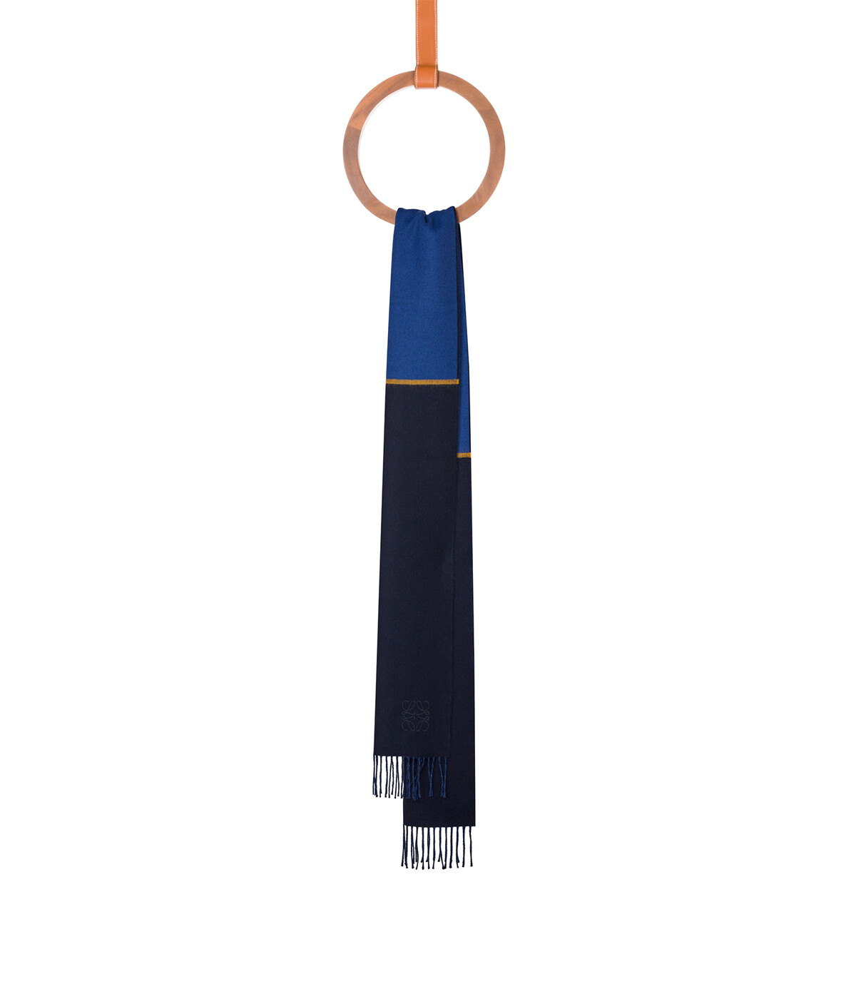 LOEWE 30X180 Window Scarf Blue/Dark Blue front