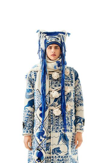 LOEWE Dragon Knit Beanie ブルー front