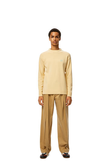 LOEWE Anagram Embroidered Sweater In Cashmere Light Yellow pdp_rd