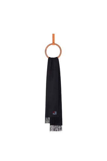 LOEWE 35 x 170 cm LOEWE anagram scarf in cashmere Navy Blue pdp_rd