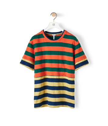 LOEWE Stripe Double Layer T-Shirt マルチカラー front