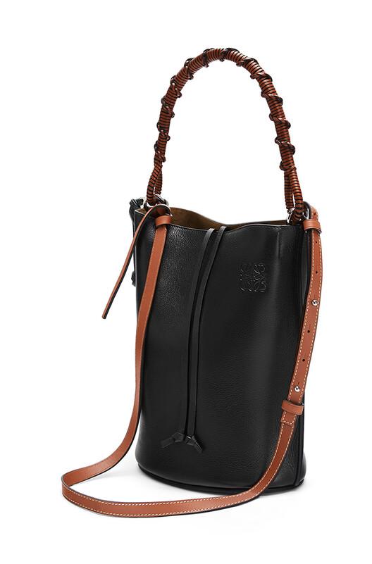 LOEWE Gate Bucket Handle Bag Black front