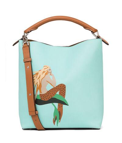 LOEWE T Bucket Paula Mermaid Bag Aqua front