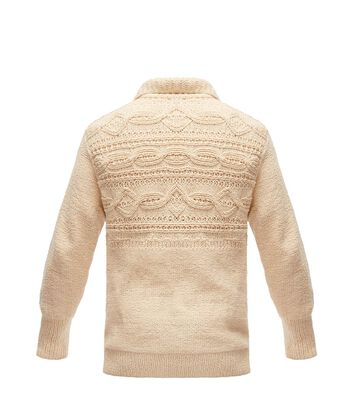 LOEWE Cable Henley Sweater Beige front