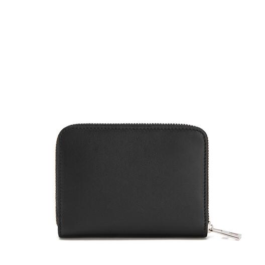 LOEWE Brand 6 Cards Zip Wallet Black front