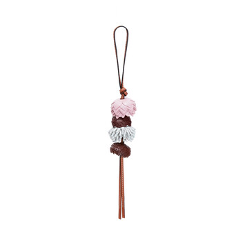LOEWE Charm Flores Rosa Hielo/Blanco Suave front