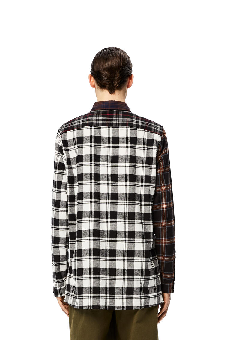 LOEWE Patchwork oversize shirt in check cotton Brown/Grey pdp_rd