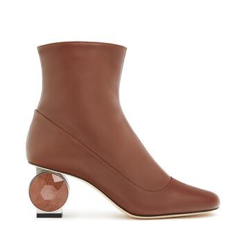 LOEWE Strass Heel Boot 55 Brown front