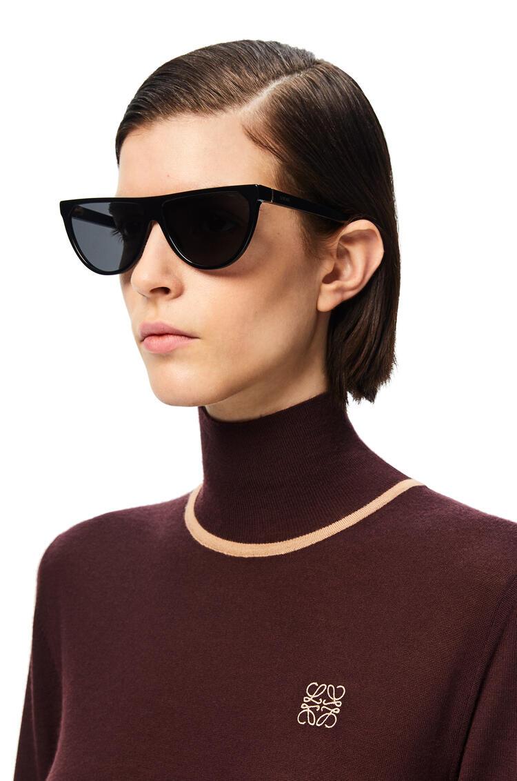 LOEWE Pilot Sunglasses in acetate Black pdp_rd
