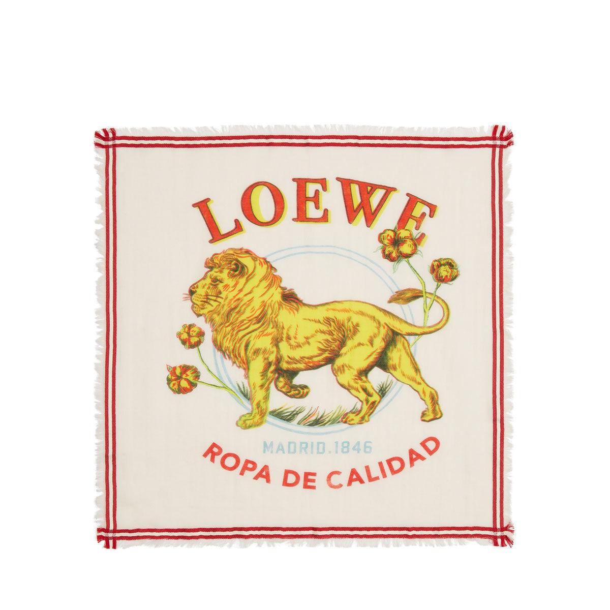 LOEWE 50X50 Bandana El Leon 黄色 all