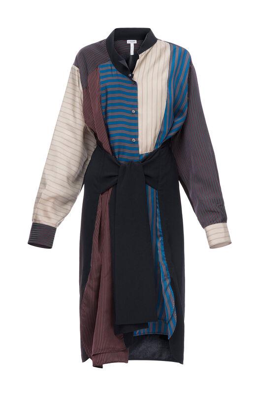 Patchwork Stripe Shirtdress
