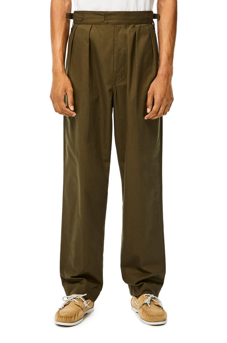 LOEWE Trousers in cotton Khaki Green pdp_rd