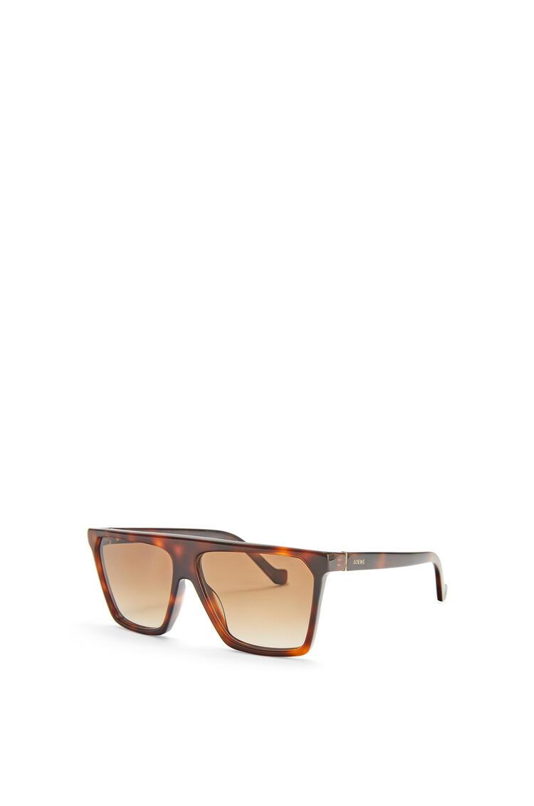 LOEWE Thin flat top sunglasses Dark Havana Patchwork pdp_rd