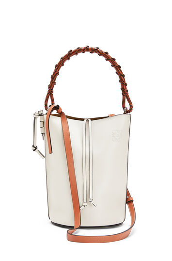 LOEWE Gate Bucket Handle Bag Soft White front