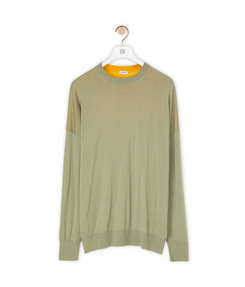 LOEWE Anagram Sweater Khaki Green/Orange front