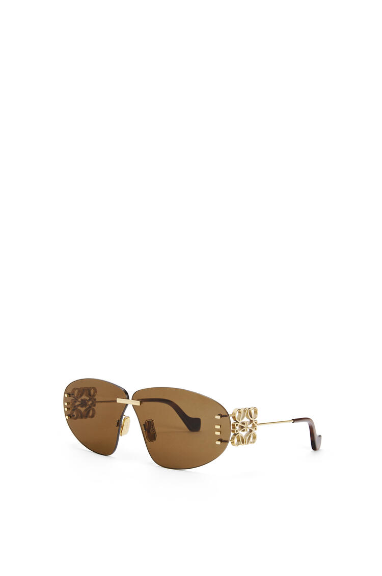 LOEWE Rimless Oval Anagram Brown/Gold pdp_rd