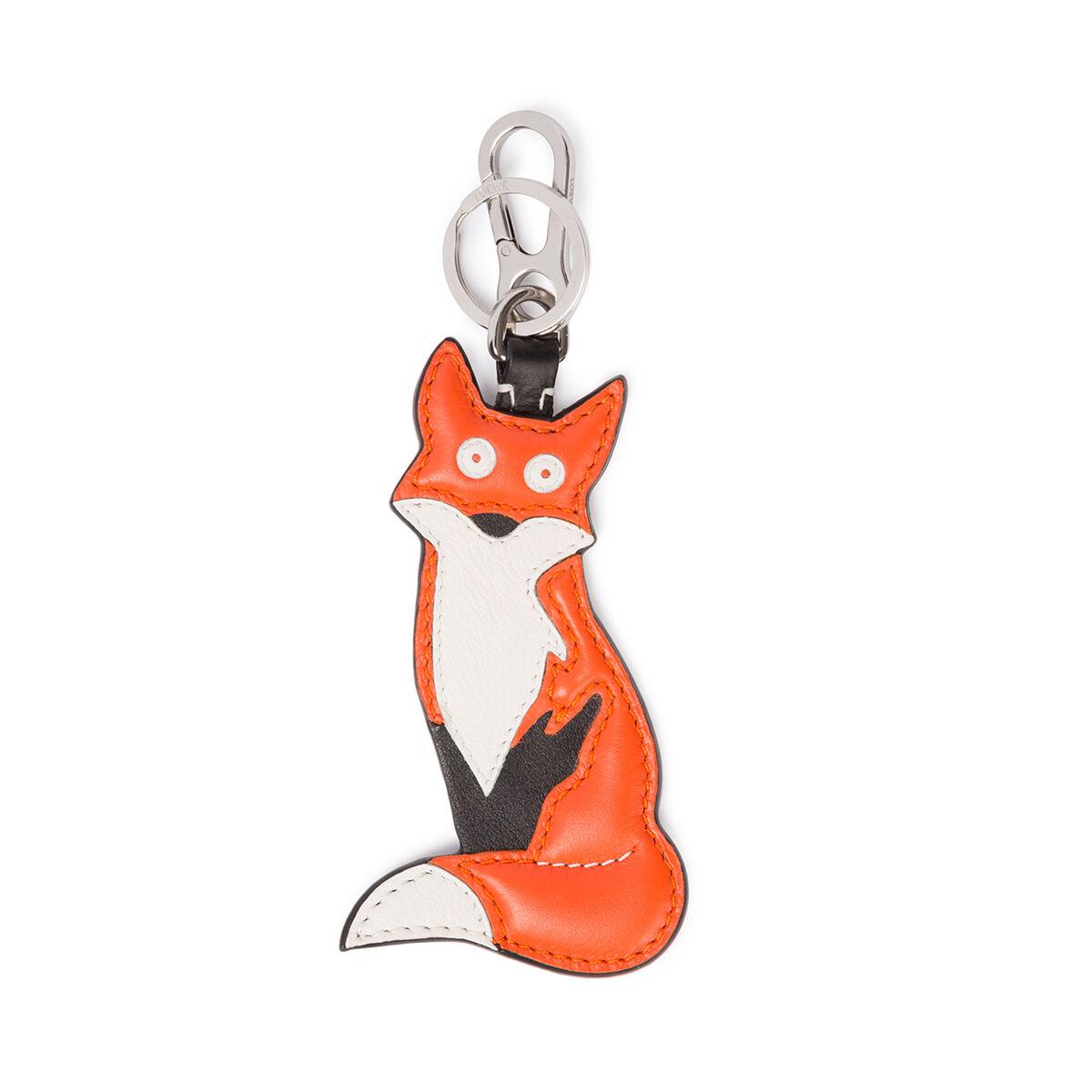 LOEWE Fox Charm 橘色/金属灰 all