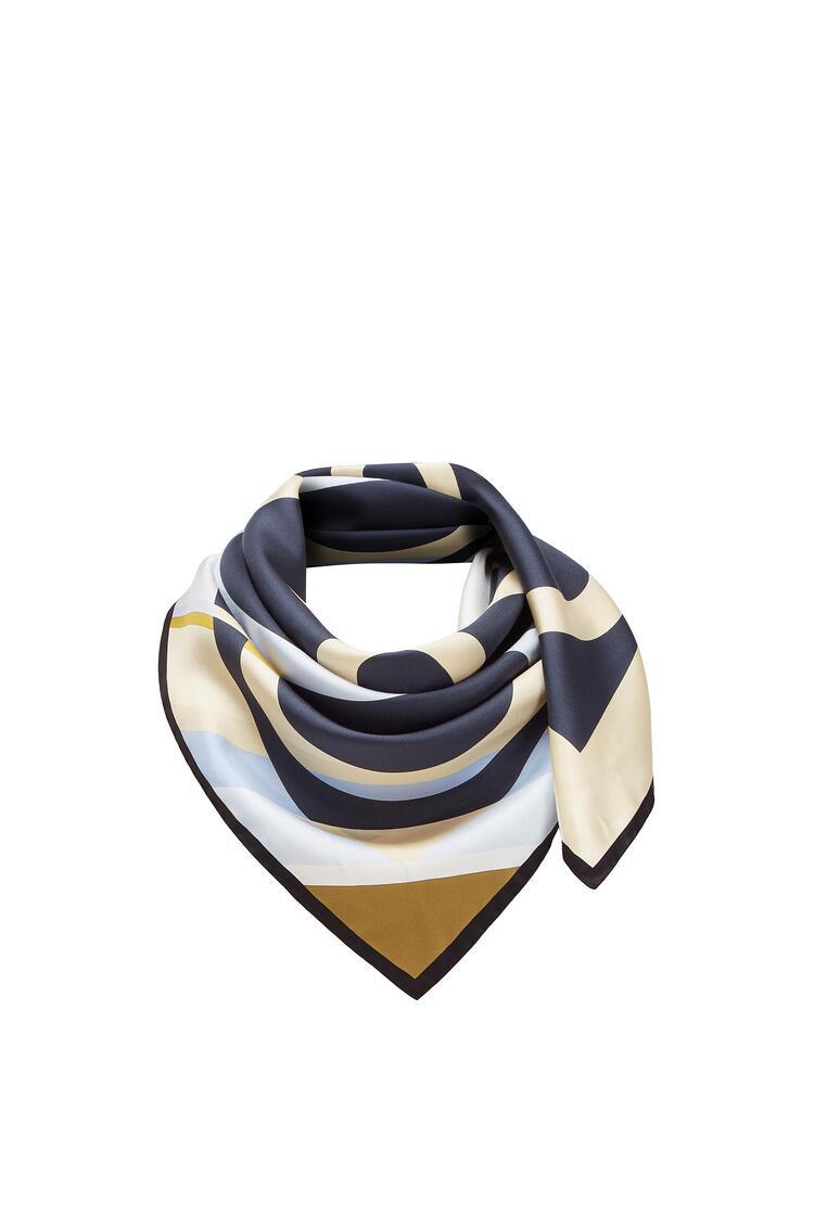 LOEWE 90x90 Scarf Stripe Anagram Dark Navy Blue pdp_rd