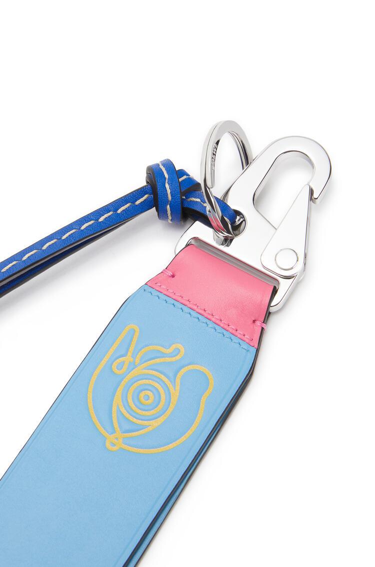 LOEWE Small Eye/LOEWE/Nature charm in calfskin Pink/Blue pdp_rd