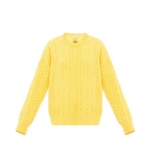 LOEWE Cable Knit Sweater Amarillo all