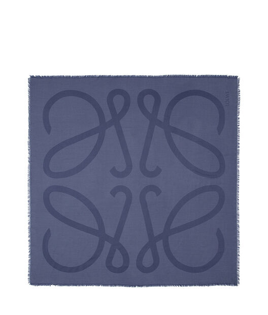 LOEWE 140X140 Scarf Giant Anagram Azul all