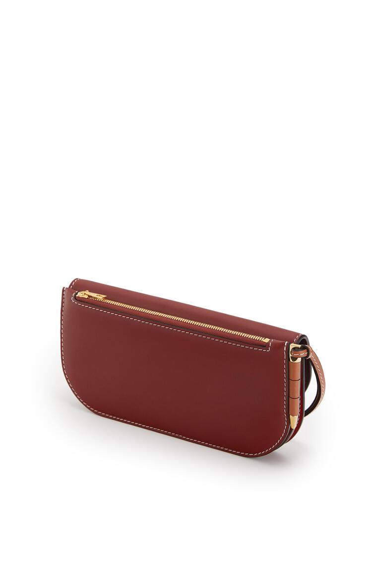 LOEWE Gate Continental Wallet In Smooth Calfskin Garnet/Pomodoro pdp_rd