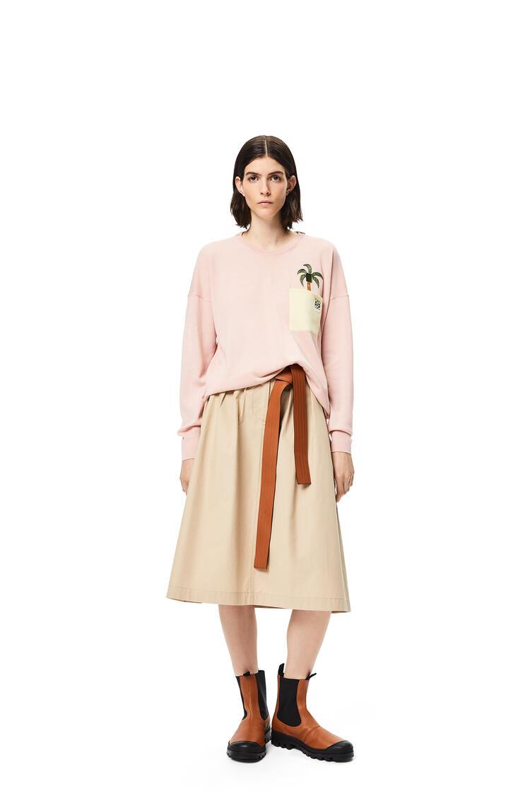 LOEWE Jersey en lana con La Palme bordado Rosa Malva pdp_rd