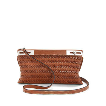 LOEWE Missy Woven Small Bag Tan front