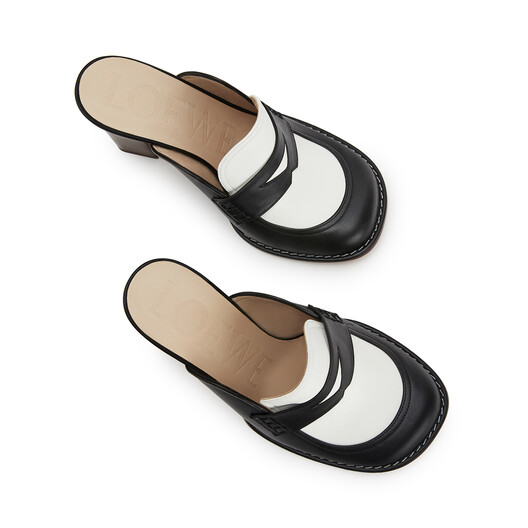 LOEWE Loafer 90 Negro/Blanco front