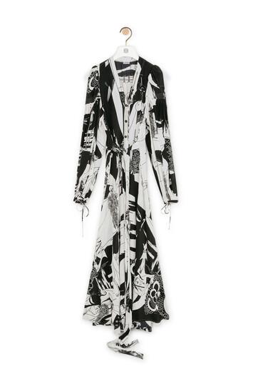 LOEWE Salome Peasant Shirtdress ブラック/ホワイト front