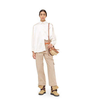 LOEWE サテンオーバーサイズシャツ ホワイト front