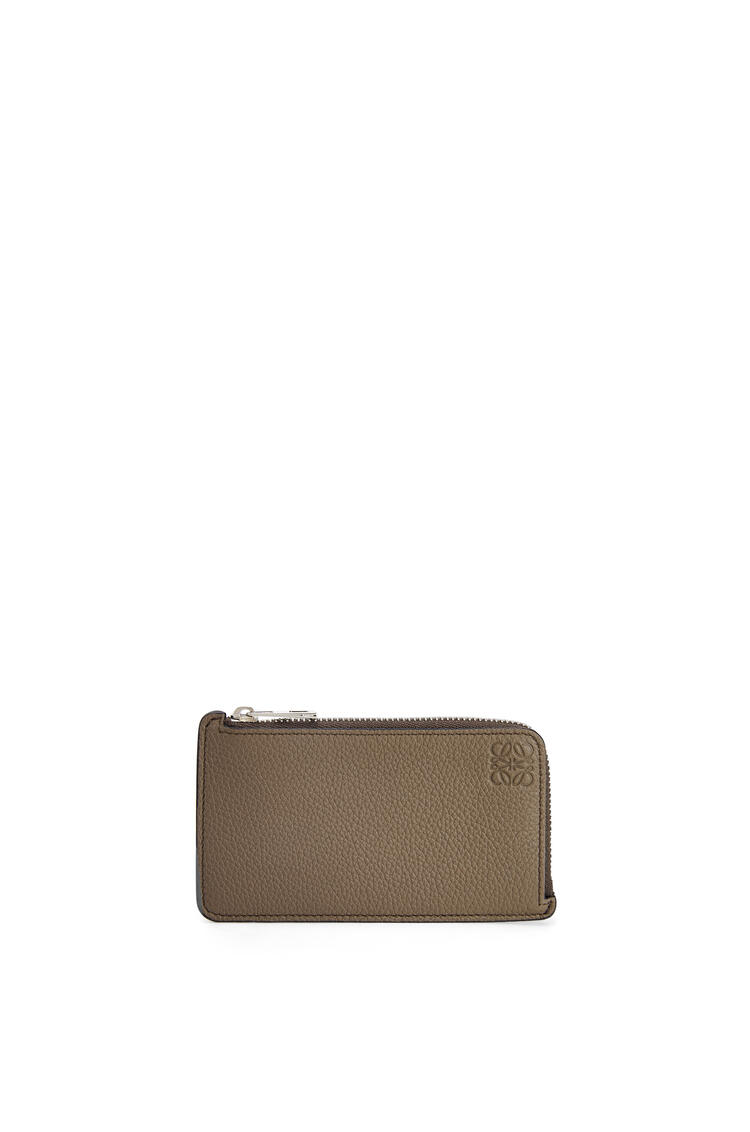 LOEWE Coin cardholder in soft grained calfskin Dark Moss pdp_rd