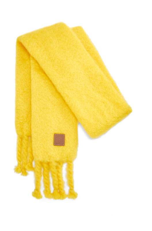 LOEWE 45X230 Scarf Mohair Yellow front