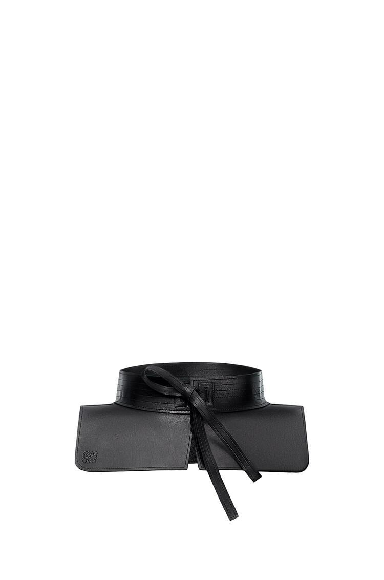 LOEWE Obi belt in nappa Black pdp_rd