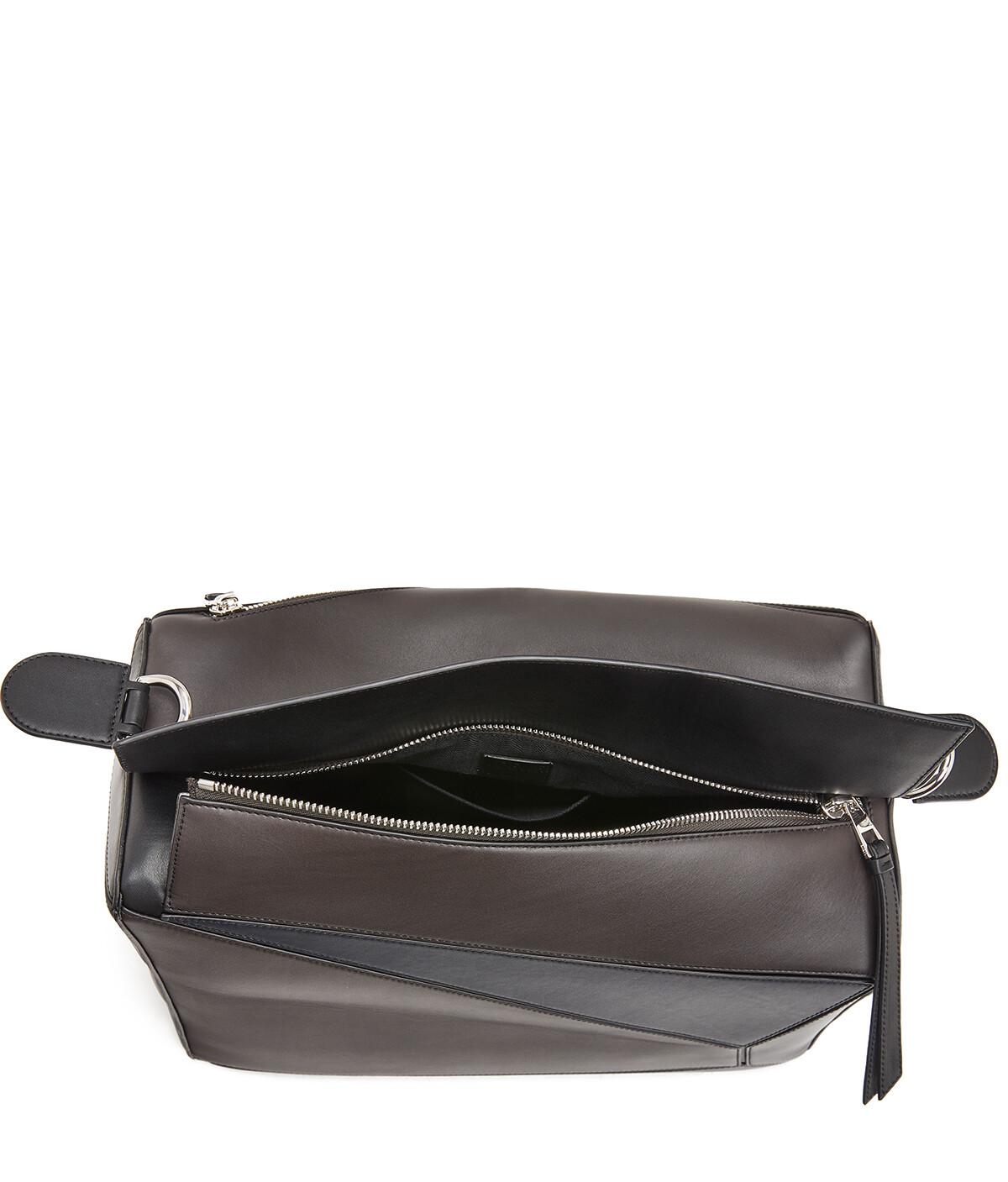 LOEWE Puzzle Xl Bag Carbon/Deep Blue front