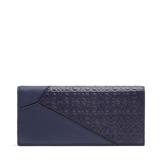 LOEWE Puzzle Long Horiz Wallet Navy Blue all