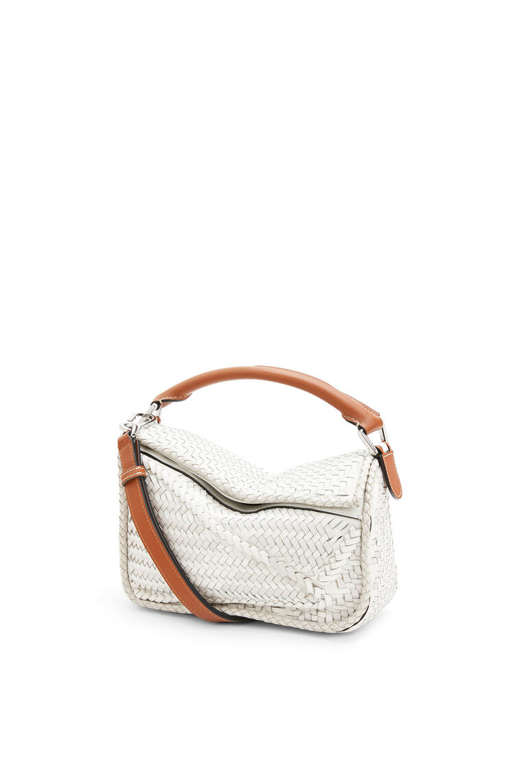 LOEWE Small Puzzle Bag In Buffalo And Calfskin White pdp_rd