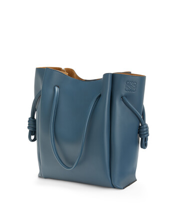 LOEWE Flamenco Knot Tote Azul Acero front