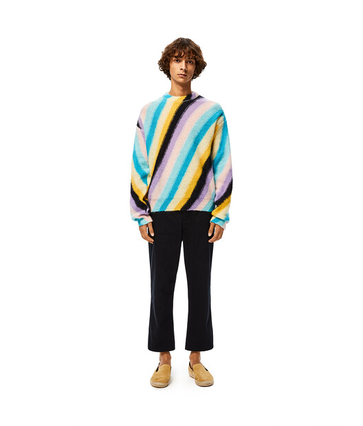 LOEWE Stripe Mohair Sweater Multicolor front