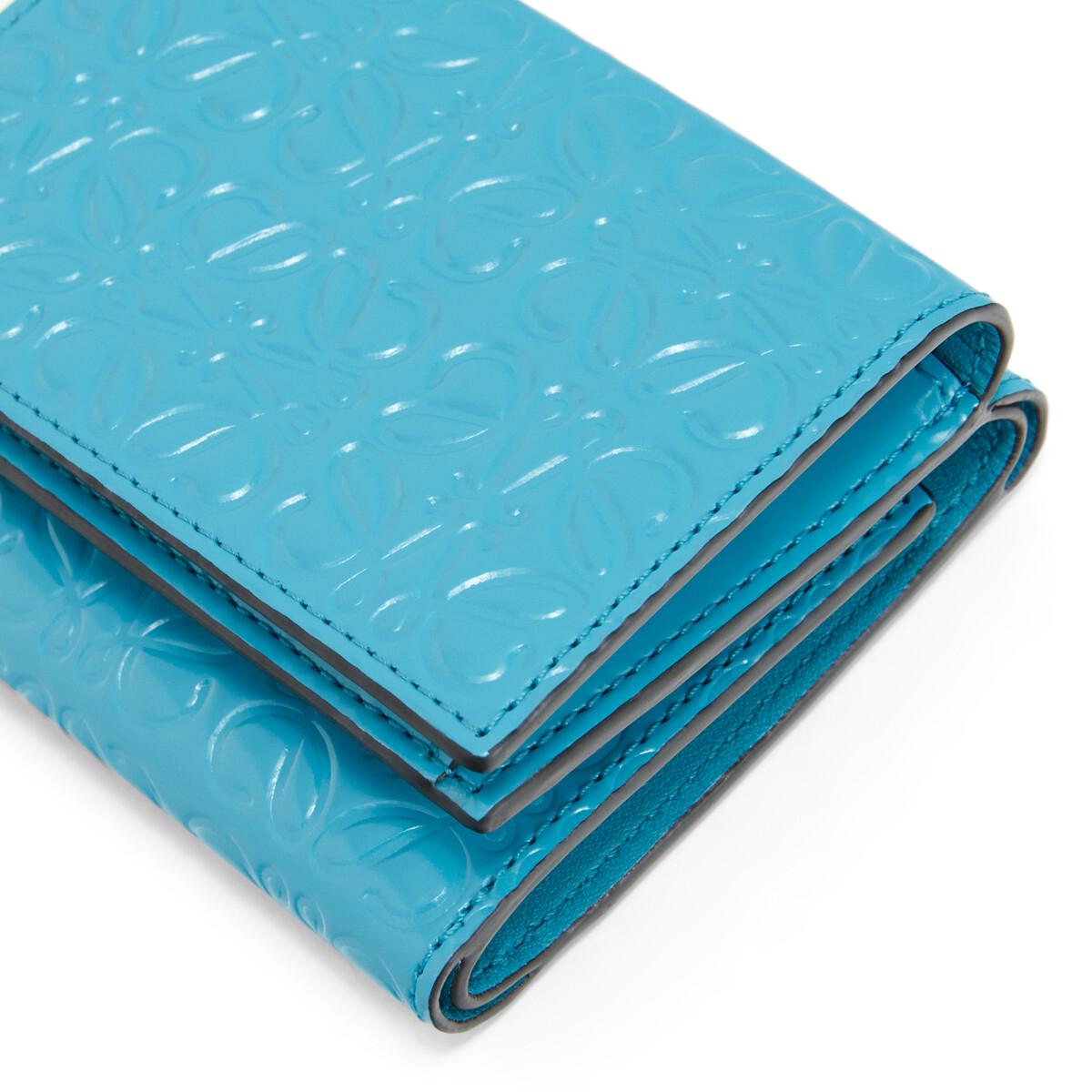 LOEWE Compact Zip Wallet Peacock Blue front