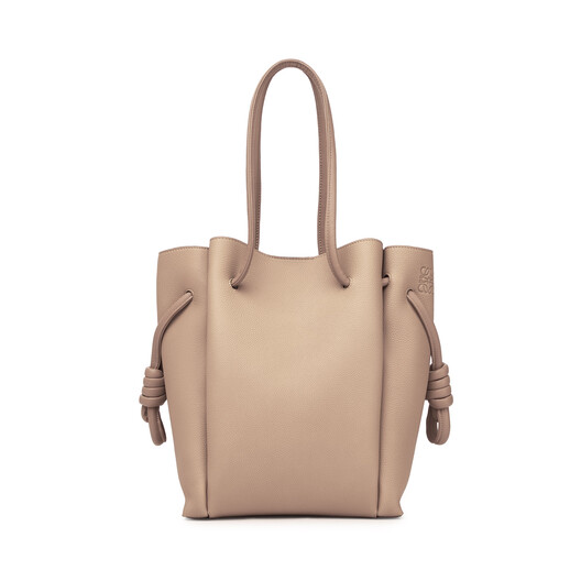 LOEWE Flamenco Knot Tote Small Light Oat  front