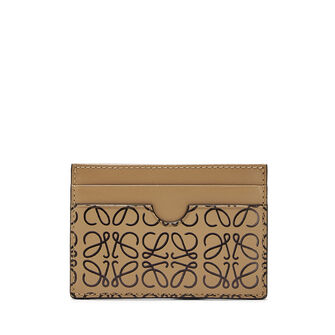 LOEWE Plain Card Holder Mocca/Black front