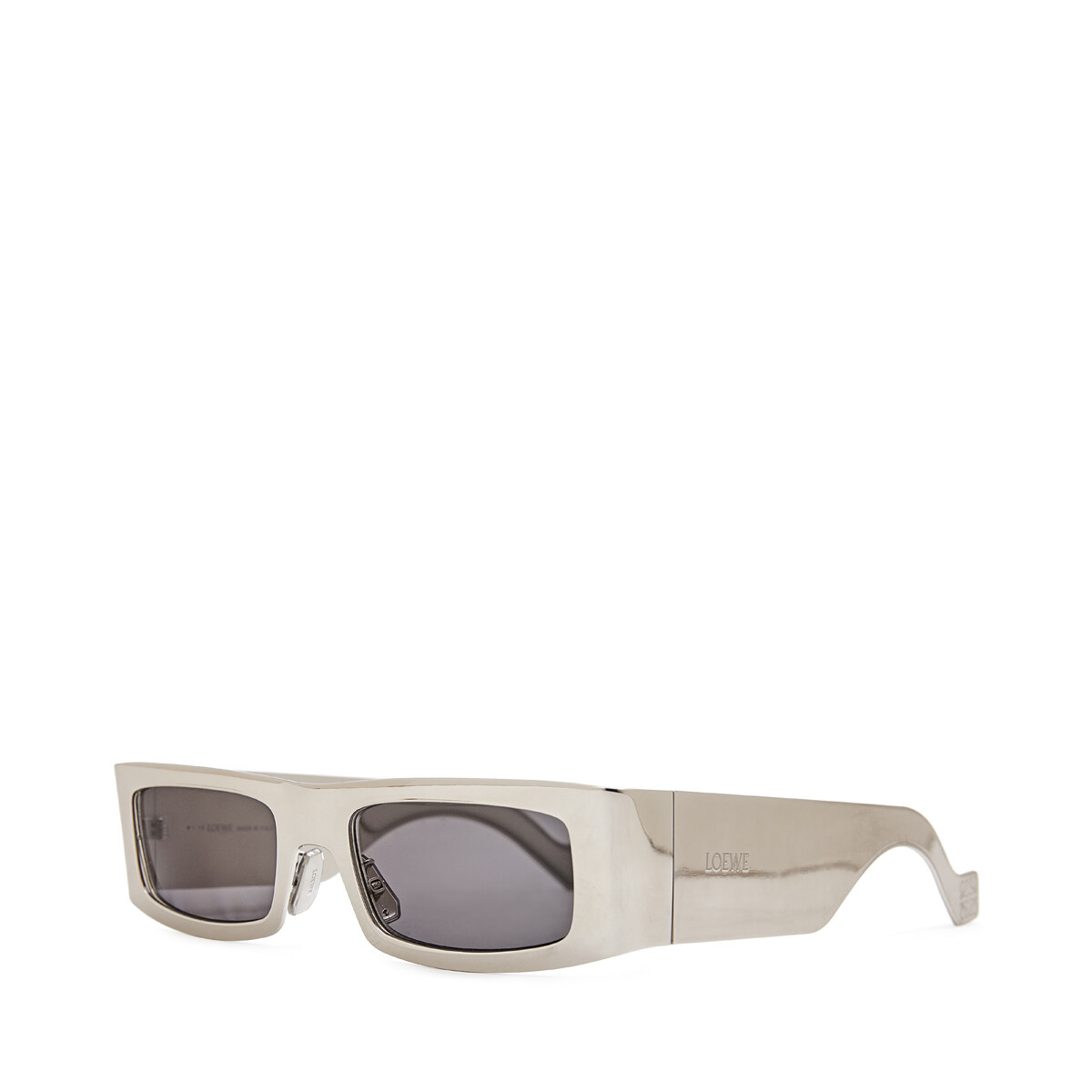 LOEWE Future Western Sunglasses Silver front