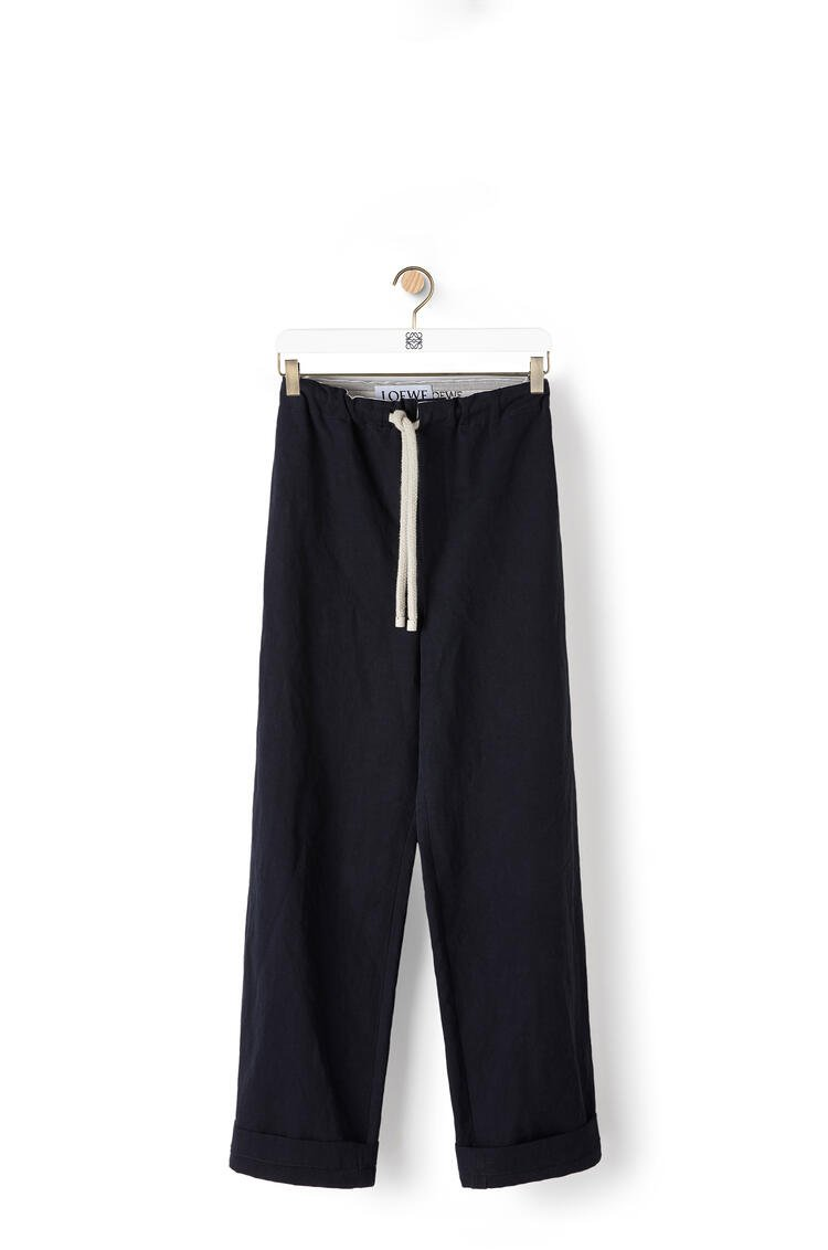 LOEWE Drawstring trousers in cotton Dark Navy Blue pdp_rd