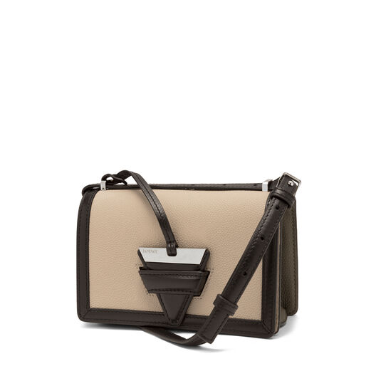 LOEWE Barcelona Small Bag Oat/Khaki Green all