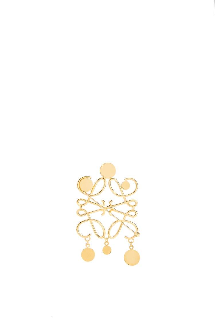 LOEWE Small Anagram brooch in metal Gold pdp_rd