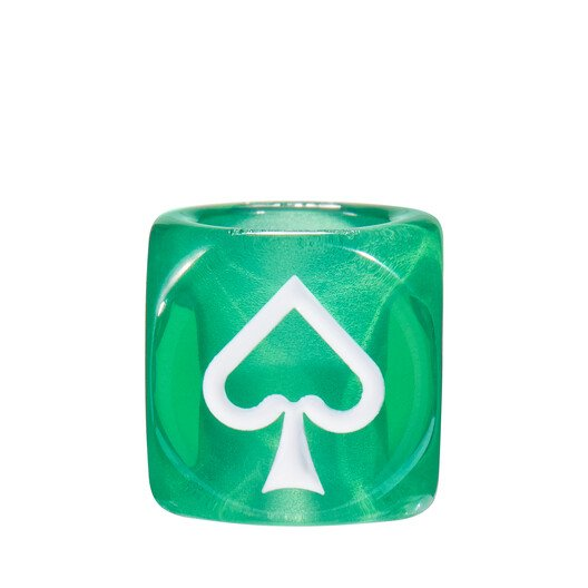 LOEWE Playing Cards Small Dice Green front