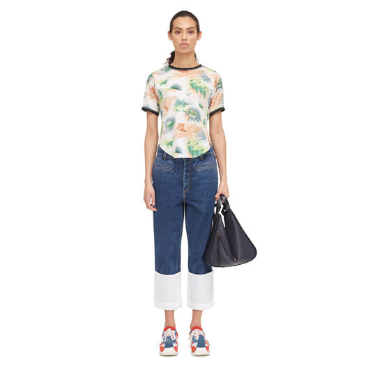 LOEWE Forest T-Shirt Top Multicolor all