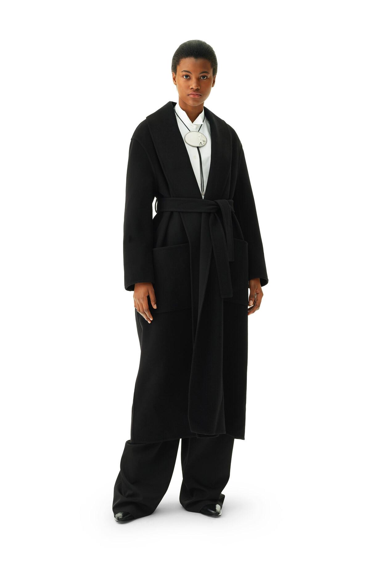 LOEWE Robe Coat Black front